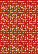 Emoji Christmas Roll Wrap 4m